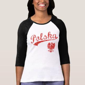 Camiseta Estilo bonito do esporte de Polska Eagle