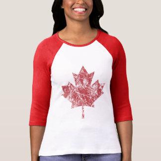 Camiseta Estilo canadense CANADÁ do Grunge da folha de