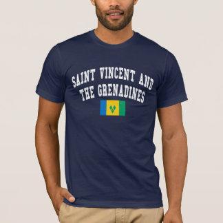 Camiseta Estilo da faculdade de São Vicente e Granadinas