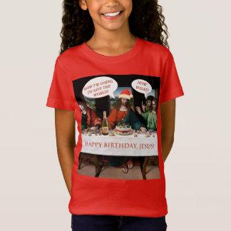 Camiseta Estilo da história em quadrinhos de Jesus do feliz