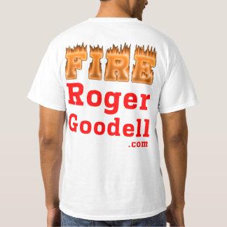 Camiseta Estilo da luz do t-shirt de Roger Goodell do fogo