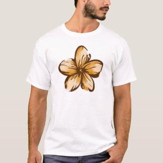 Camiseta Estilo de Havaí da flor do Plumeria