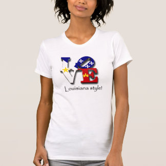 Camiseta Estilo de Louisiana do amor