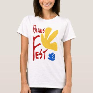 Camiseta Estilo de Matisse do Fest dos azuis
