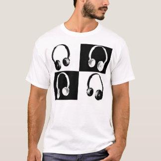 Camiseta Estilo do auscultadores