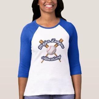 Camiseta Estilo do basebol das senhoras