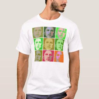 Camiseta Estilo do pop art de Obama