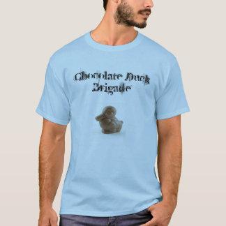 Camiseta Estilo do poster da rocha do pato do chocolate