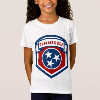 Camiseta Estilo do protetor da crista da bandeira do estado