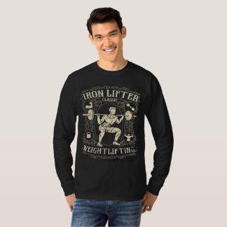 Camiseta Estilo do vintage do Weightlifter do ferro