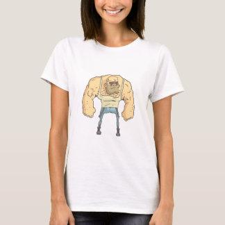 Camiseta Estilo esboçado da história em quadrinhos da