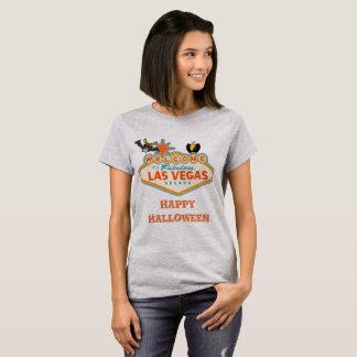 Camiseta Estilo feliz do Dia das Bruxas Las Vegas