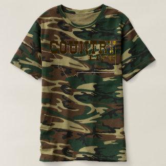 Camiseta Estilo grande do céu - vida no campo do camo