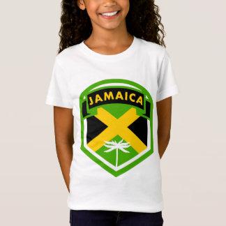 Camiseta Estilo jamaicano da crista da bandeira