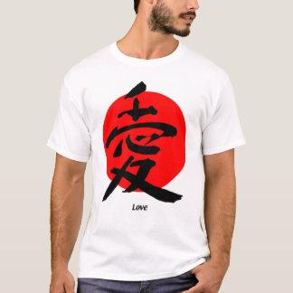 Camiseta Estilo japonês do amor