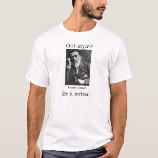 Camiseta Estilo obtido? Seja um escritor. Joseph Conrad