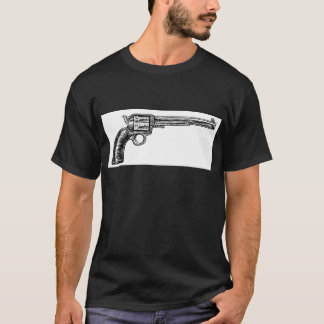 Camiseta Estilo retro do Woodcut do vintage da arma da