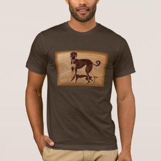 Camiseta Estilo Saluki do vintage