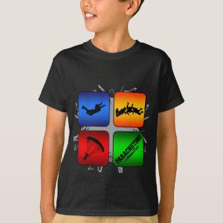 Camiseta Estilo urbano de salto de pára-quedas de surpresa