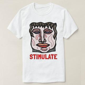 """Camiseta """"Estimule"""" o t-shirt básico dos homens"""
