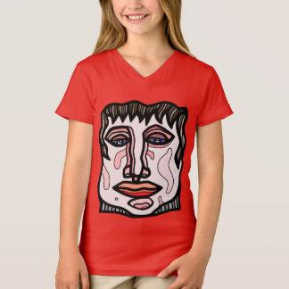 """Camiseta """"Estimule"""" o t-shirt do V-Pescoço das meninas"""