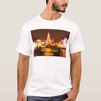 Camiseta Éstocolmo, suecia no Natal na noite
