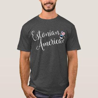 Camiseta estónia dos corações de Entwinted do
