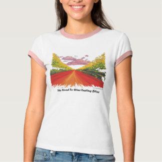 Camiseta Estrada à felicidade da degustação de vinhos