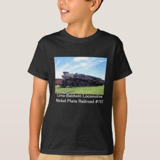 Camiseta Estrada de ferro locomotiva #757 da placa de