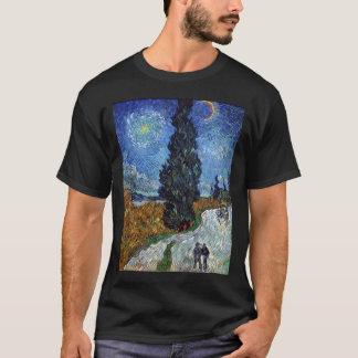 Camiseta estrada secundária de Van Gogh em provence em