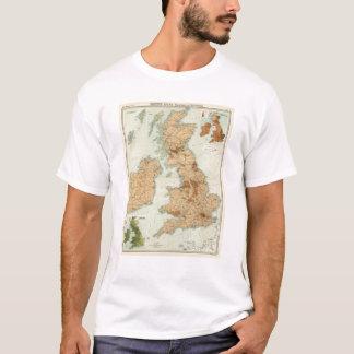 Camiseta Estradas de ferro das ilhas britânicas & mapa