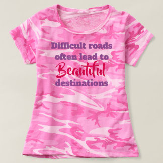 Camiseta Estradas difíceis, tshirt bonito dos destinos