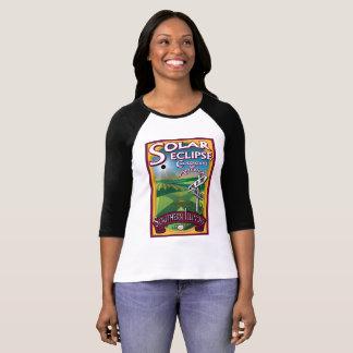 Camiseta Estradas transversaas do eclipse solar do Tshirt