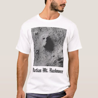 Camiseta estraga a cara, o Monte Rushmore marciano