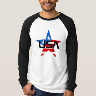 Camiseta Estrela da bandeira dos Estados Unidos