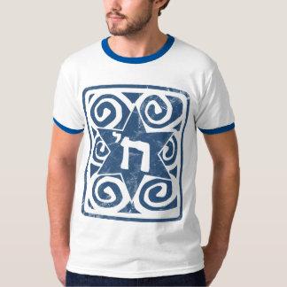 Camiseta Estrela de David afligida e Textured com Chai