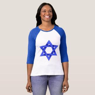 Camiseta Estrela de David azul grande, bandeira de Israel