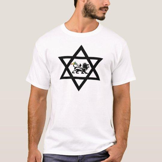 Camiseta estrela de David c/ Leão de Judá