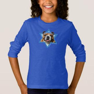 Camiseta Estrela de David de Hanukkah - buldogue