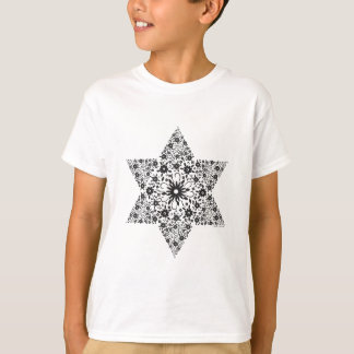 Camiseta Estrela de David preto e branco do vintage - Magen