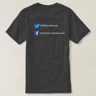 Camiseta Estrela de queda preta com meios sociais