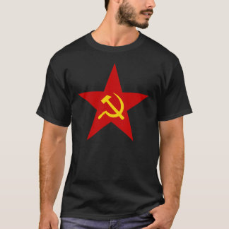 Camiseta Estrela do comunista do martelo e da foice