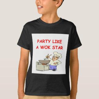 Camiseta estrela do frigideira chinesa