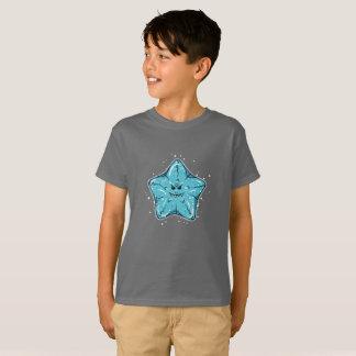 Camiseta Estrela do mar azul engraçada do coxim com um