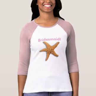 Camiseta Estrela do mar e praia resistida das pranchas