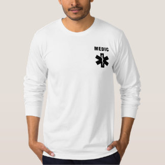 Camiseta Estrela do médico do EMS do paramédico da vida