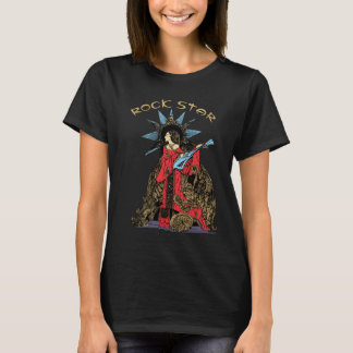 Camiseta Estrela do rock de Nouveau da arte