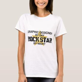 Camiseta Estrela do rock do designer gráfico