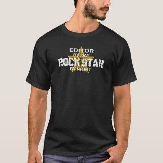 Camiseta Estrela do rock do editor em a noite