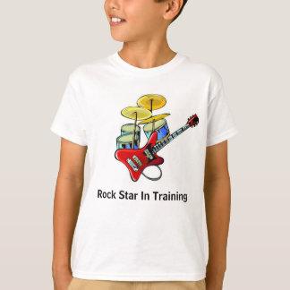 Camiseta Estrela do rock no treinamento